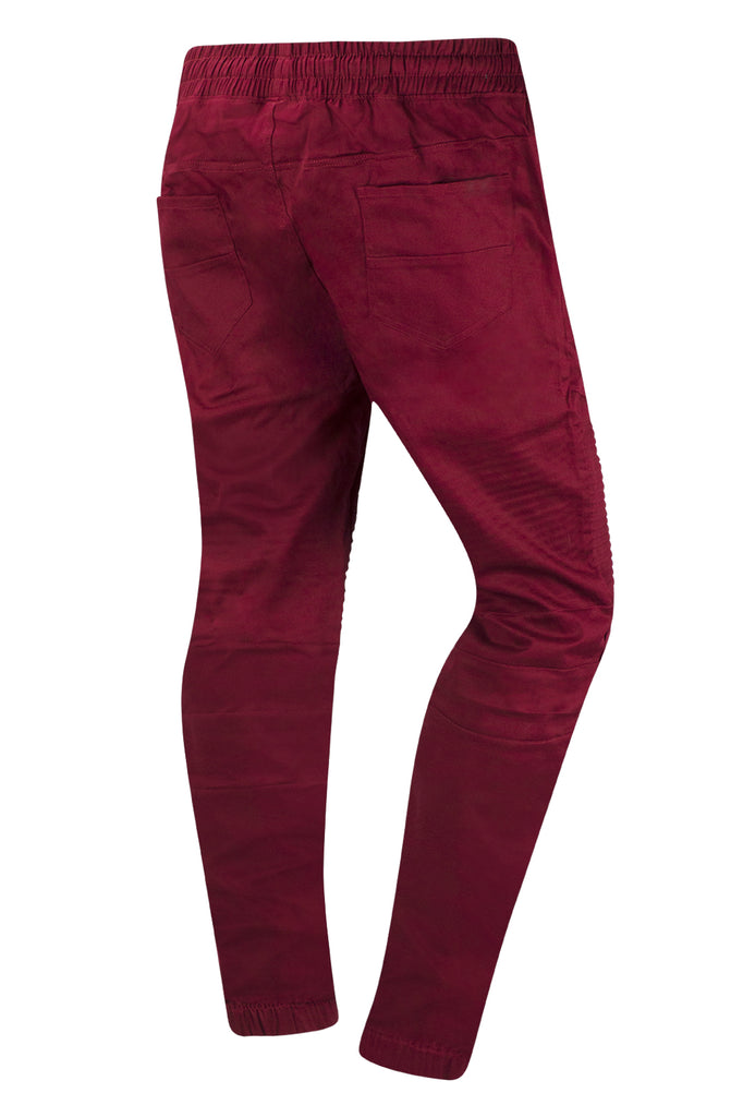 New Men Twill Biker Jogger Pants Regular Fit