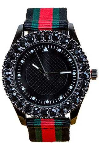 New Black Jewlery Watch Hip Hop Band