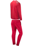 New Men Fleece Quilted Patch Sweat Suit