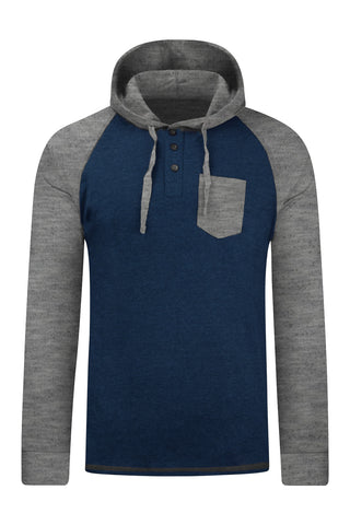 New Men 2 Tone Light Weight Hooded Sweaters