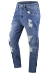 Stone Wash Men Distressed Slim Fitted Jeans