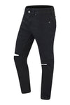 NEW men Knee Ripped Black Denim Jeans Skinny Fit