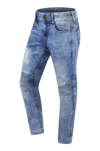 NEW Men Biker Sky Blue Denim Jeans Slim Fit
