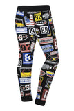 New Men Nascar Prin Jogger Pants Slim Fit