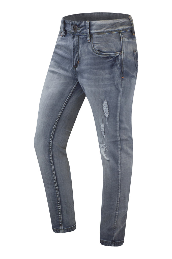 New men Ripped Distressed Coal Gray Jeans