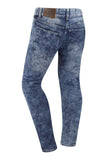 NEW Men Ripped Distressed Denim Blue Jeans