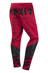 New Men Red Abstract Joggers Slim Fit