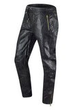 New Men Faux Leather Zipper Pocket Jogger Pants Regular Fit