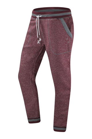 New Men Fleece Burgundy Jogger Pants