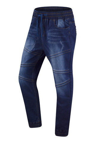 New Men Elastic Waist Denim Jogger Pants
