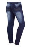 New Men Biker Denim Blue Premium Jogger Pants