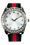 New White Ice Face Watch Hip Hop Band