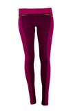 Leggings Pants Zipper Side Striped One Size Slim Blue Purple Brown Pink