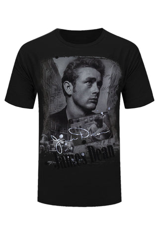 2f0085d2989282 NEW Men James Dean Shirt Short Sleeve USA Actor Celebrity ALL SIZES 4 COLORS