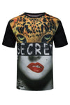 New Men Sublimation Tiger Lion Shirt Leopard Secret Shirt S-XL Stretchy Lips