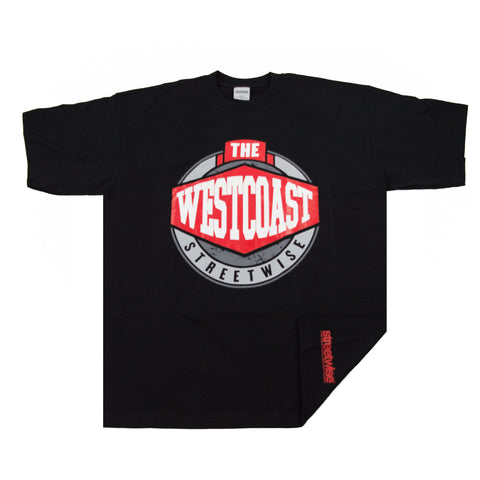 Streetwise The Westcoast Grey Shirt Hip Hop Rap Black Blue Gray SIZES West Coast