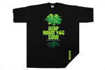 Streetwise Reap What You Sow Weed Green Cannabis Marijuana Shirt Black Men Sizes