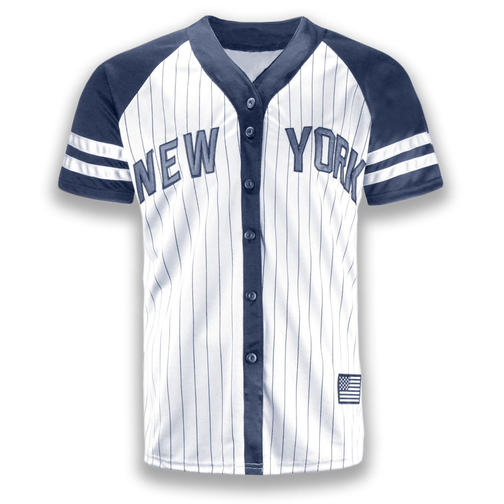 meet 30b62 f9ab3 NEW Men New York Yankees Jersey Gray White Black Button Up ...