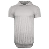 Elongated Quilted Hooded Tailed-Shirt