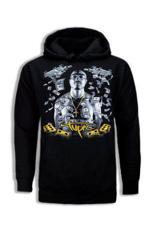 NEW Men Tupac 2pac Hooded Sweater Long Sleeve Fleece ALL SIZES M-2XL Cash Rap