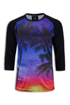 NEW Men Sublimation Shirt Snoop Dog Rap Music Palm Tree Cali Ca Shirts 3/4 Sleev