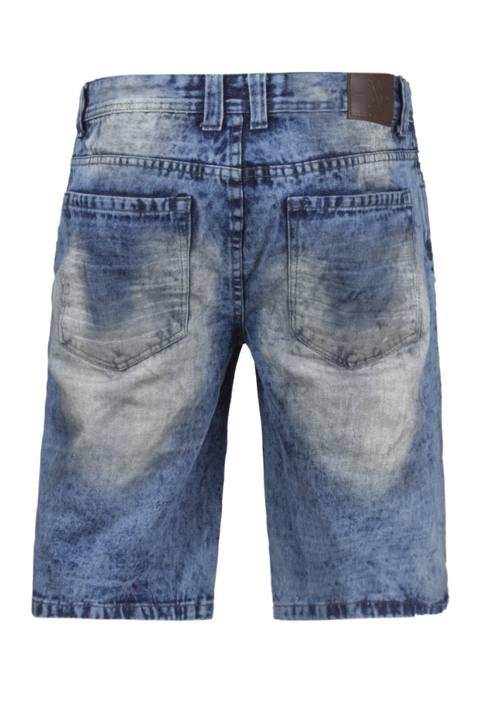 NEW Men Denim Blue Ripped Shorts Distressed Regular Fit Acid Wash Sizes 30-38