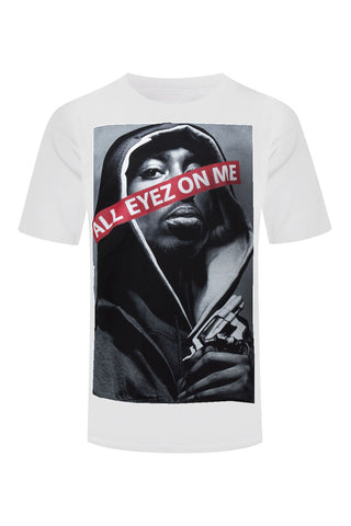 NEW Men Tupac Shirt All Eyes On Me 2pac Rap Music Gangster Shirts Size M-4XL