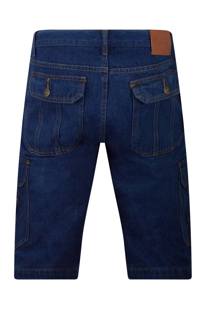 Men Denim Cargo Shorts