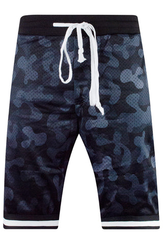 New Men Mesh Camo Basketball Camo Shorts