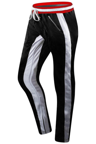 Track Pants W/Zipper Ankles
