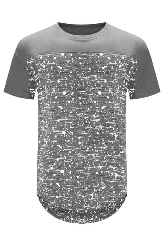 New Men Billionaire Club Paint Splattered T-Shirt