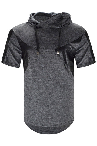 New Men Hustle Sequin Hoodie Longline