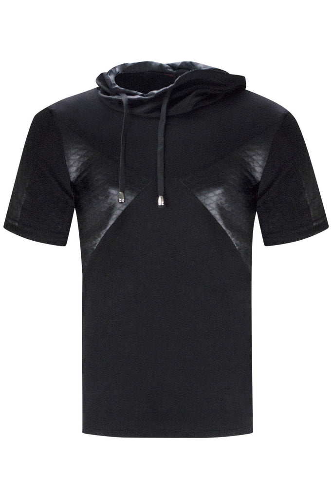 New Men Stretchy Hoodie Polyester Blend