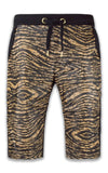 NEW Men Tiger Leopard Print Fleece Shorts