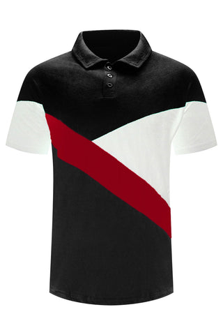 New Men Tri-Tone Polo T-Shirt
