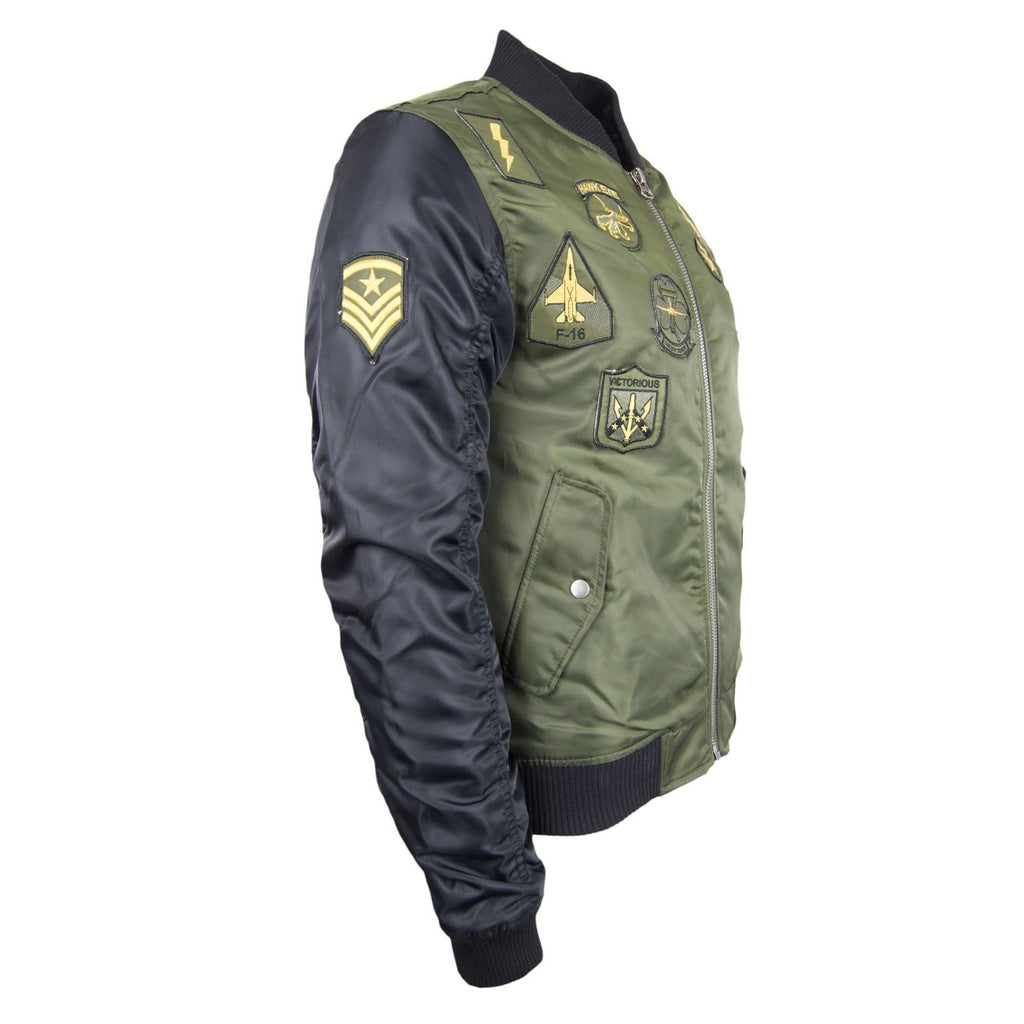 New Men Aviator Polyester Jacket With Patches