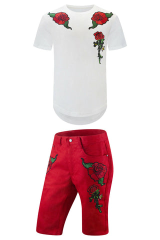 New Red Roses T-Shirt Outfit