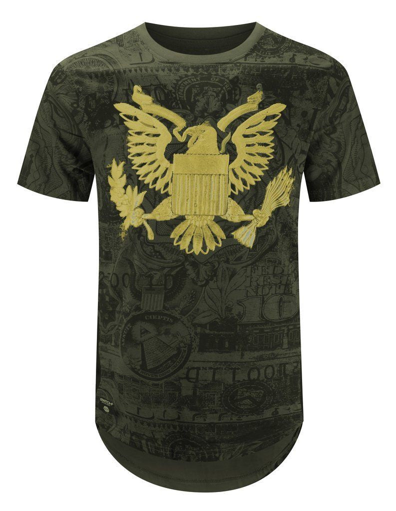 NEW Men T-Shirt 3D Print American Bald Eagle American Dollar 8 Colors ALL SIZES