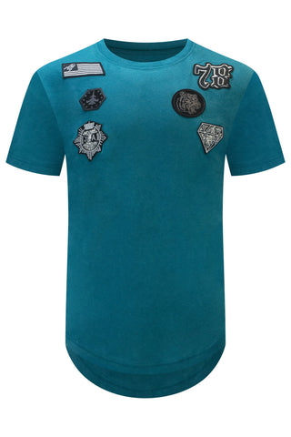 New Embroidered Patch Stitched T-Shirt