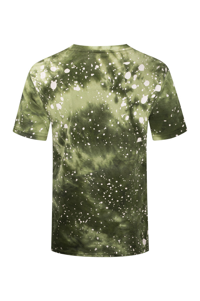 NEW Men Bull Racing Gold Foil print Paint Splatter Shirt Sizes S-2XL 5 Colors