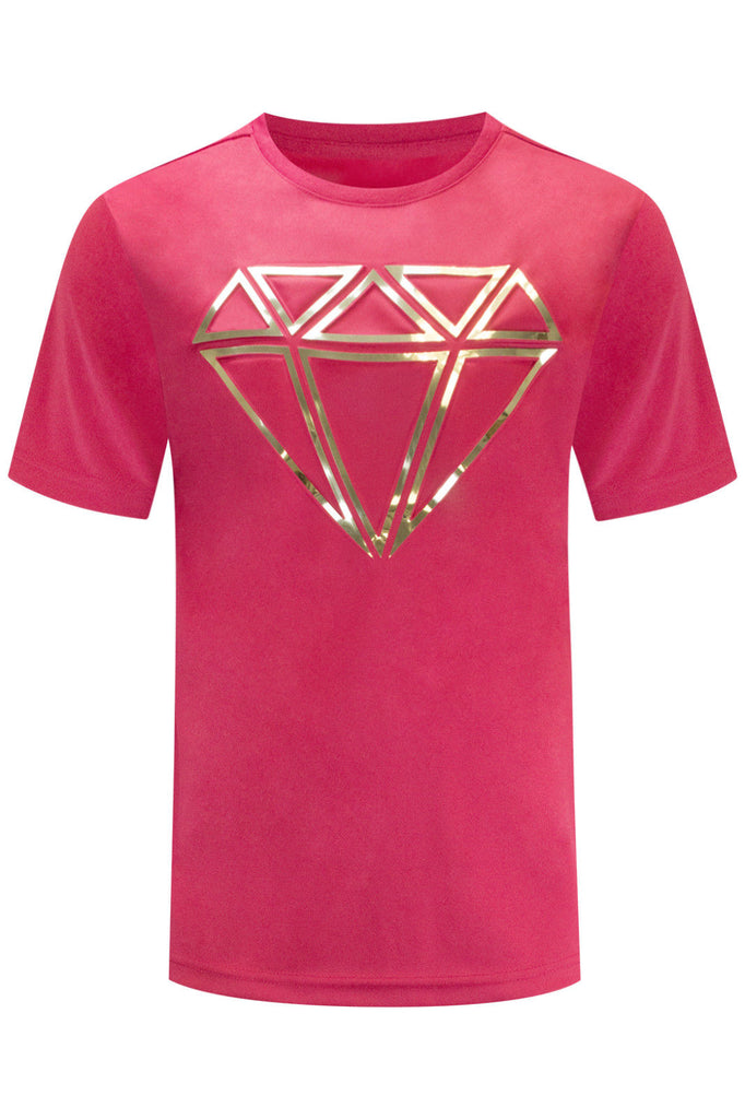 New Men Diamond Embossed Gem T-Shirt