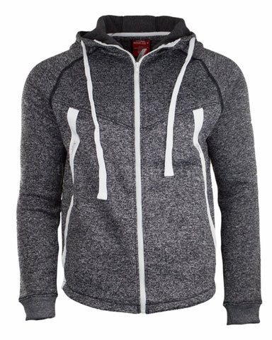 New Men Heather Hooded Jacket