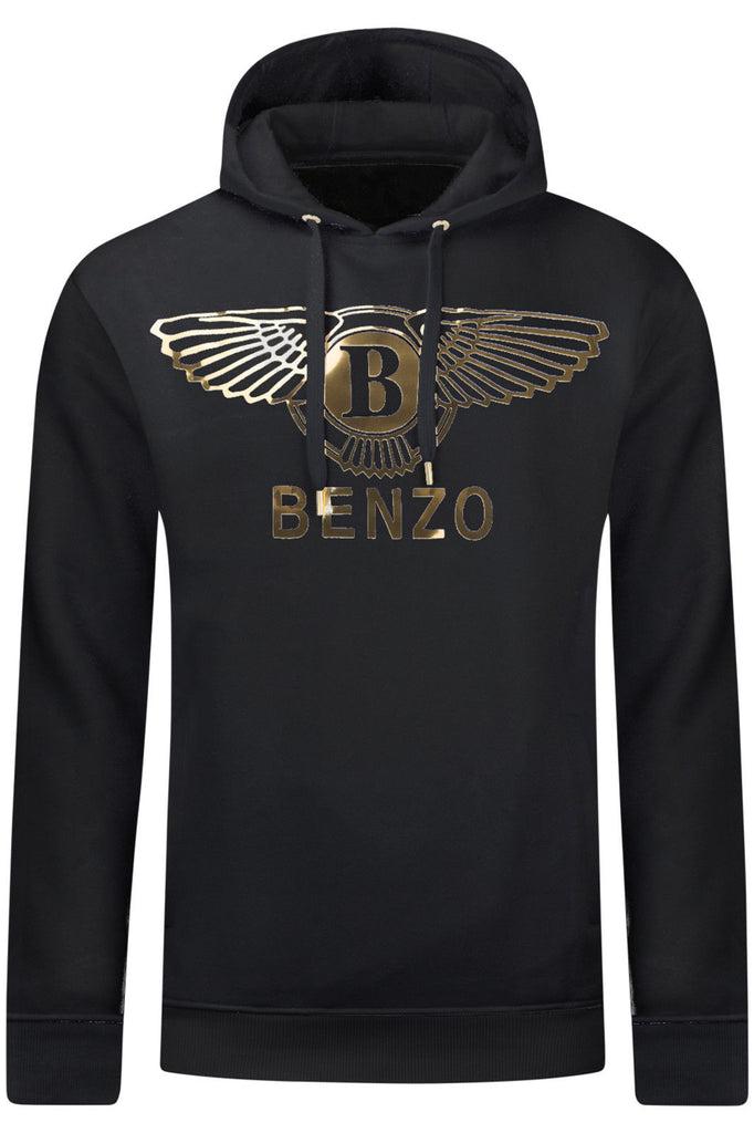 New Men Benzo Gold Foil Hooded Sweater
