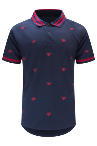 New Men Tiger Logo Polo Longline T-Shirt