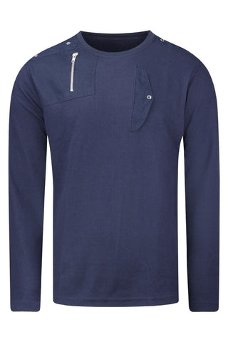 New Men Thermal Long Sleeve Shirt With Zipper