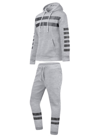 New Men Fleece Striped Matching Set