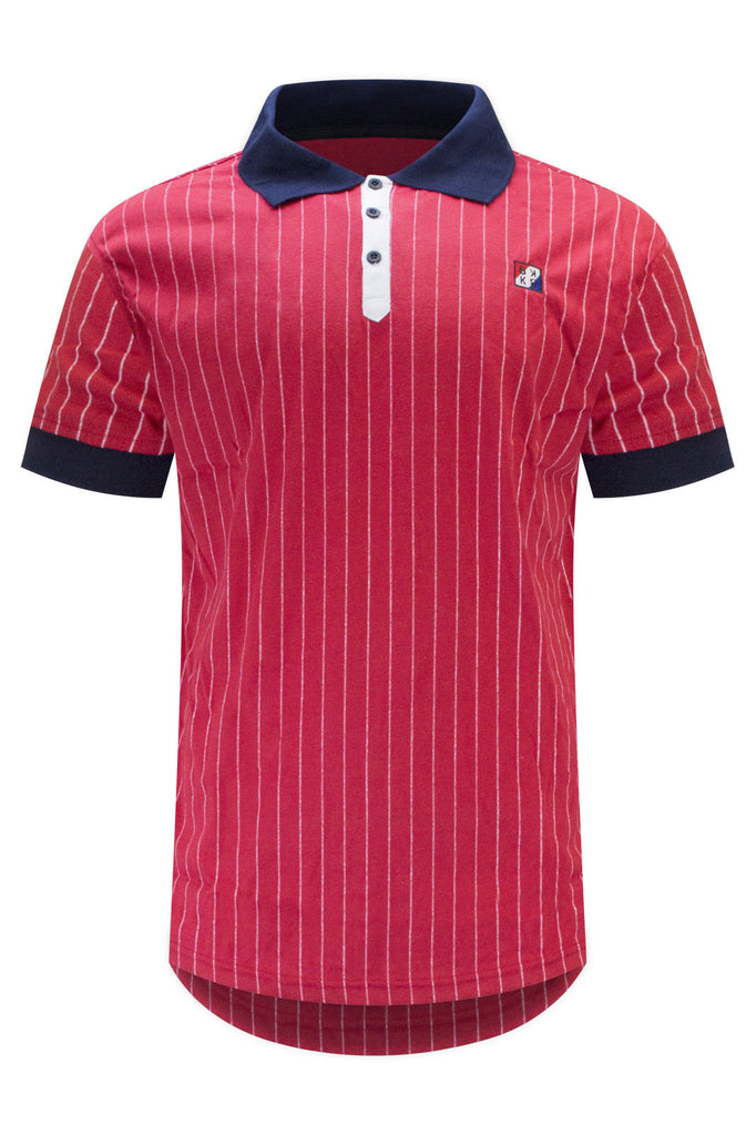 New Men Polo Pin Stripe Shirt