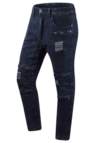 New Men Distressed Slim Fit Jeans