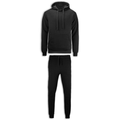 NEW Men Biker Fleece Sweatsuit Set