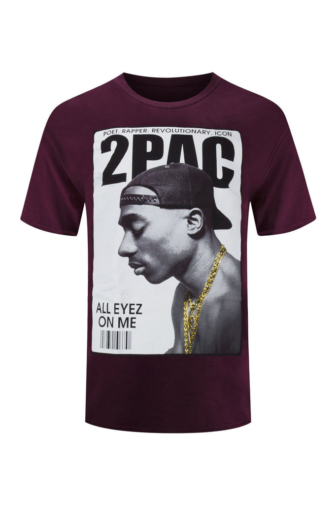 NEW Men Tupac Shirt 2Pac All Eyes On Me Gold Foil News Sizes M-4XL Short Sleeve